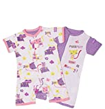 Pack of 2 Romper Suits - Purrfect (Girls) (0-3 months)