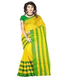 Sanju Smart Green Color Cotton Silk Saree
