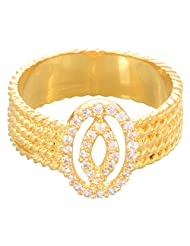 Creation Jewellery Gold Rodium Plated Gold Plated Clip-On Ring For Women - B00Z9UU33K