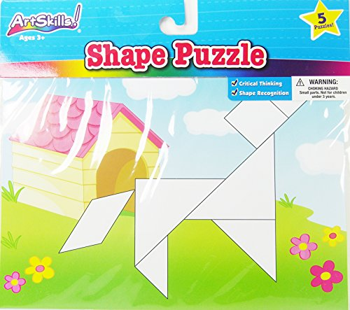 ArtSkills Animal Shape Puzzle - 7 Shape Pieces - 5 Puzzles to help learn Shape Recognition
