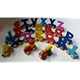 Magnetic wooden toy train name (7 letter name)