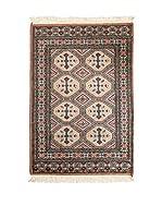 QURAMA Alfombra Kashmir Marrón/Multicolor 125 x 76 cm