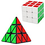 Rubik Cube,Pyraminx / Pyramid,Speed Cube,2-PACK