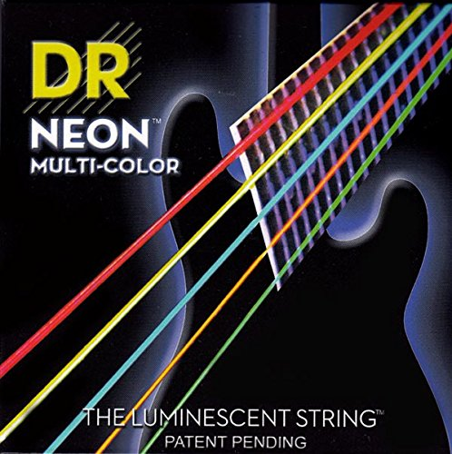 Dr Strings Nmcb5-45 Dr Neon 5 Bass Guitar String, Medium, Multi-Color