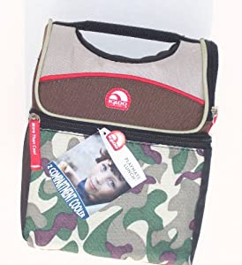 Camo, Insulated Igloo, Dual Compartment, Single Playmate Lunch Picnic / Beach Cooler / Tote