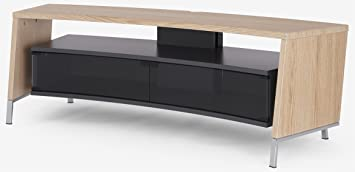 Off-The-Wall Curve 1500 Light Wood Laminate TV Stand (Oak Effect)