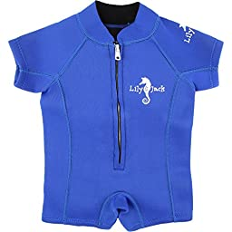 Baby Unisex 3mm Wetsuit UV Protected Swimwear for Toddlers (Blue) (S)