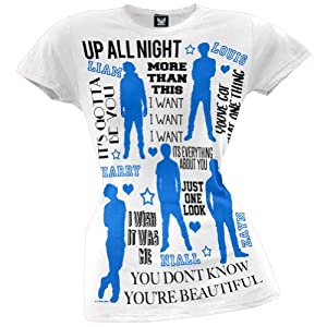 One Direction - Silhouettes Juniors T-Shirt