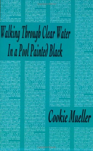 Walking Through Clear Water in a Pool Painted Black (Native Agents), by Cookie Mueller