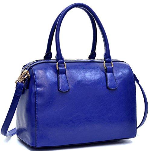 dasein-barrel-body-satchel-shoulder-bag-with-removable-shoulder-strap-royal-blue