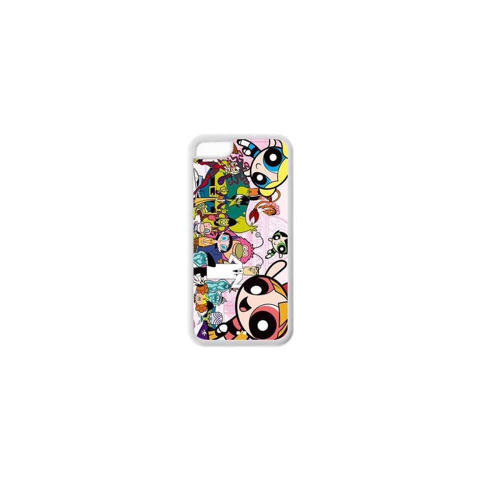 Cute cartoon anime powerpuff girls TPU back case for Iphone 5c Cell Phones & Accessories