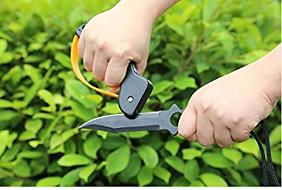 EDC Outdoor Knife Sharpener Sharpening Tool, Best Choice for Survival, Hunting, Gardening, Farming, Fishing or Camping Gear from Amazona's presentz