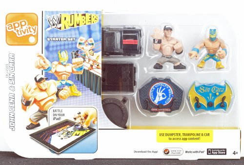 W RUMBLERS app tivity Starter Set John Cena & Sin Garr - 1