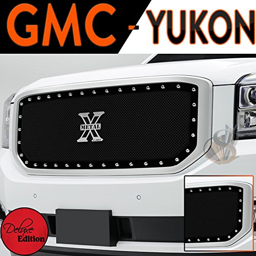 2015 GMC Yukon Black Mesh Grill Full Replacement Stainless Steel Grill xq машина р у gmc yukon