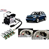 Auto Pearl - Combo Of Metal Tire Inflaltor 12 Volts 100 PSI Heavy Duty Piston Compressor And Air Alet For - MINI...