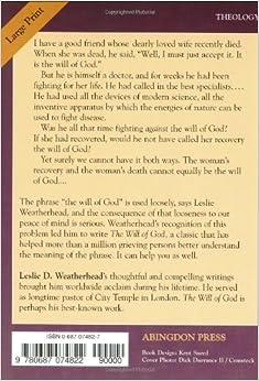 The will of god leslie weatherhead