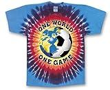 Tie Dyed Sunburst Soccer T-Shirt-adult-small