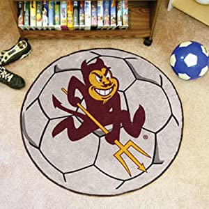 Fanmats Sports Team Logo Arizona State University Soccer Ball by Fanmats