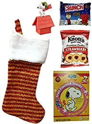 Peanuts Gang Holiday Christmas Stocking Gift Bundle (5 Pieces)