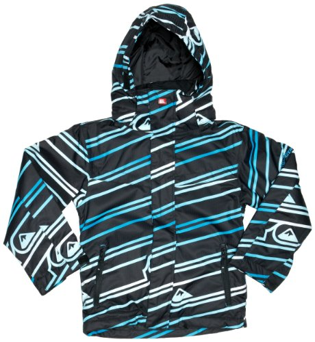 Quiksilver Last Mission Print Youth 2 Boys Jacket Logo Gogo Blue 10 years