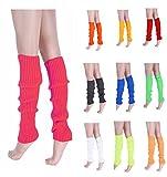 V28Women Winter 80s Eighty's Warm Leg Warmers Knitted Long Socks