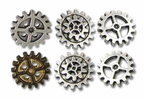 Alchemy Empire: Steampunk Gearwheel - Small Shirt Buttons