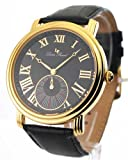 Swiss Watches:Mens Lucien Piccard Leather Gold Tone Watch 28162YL