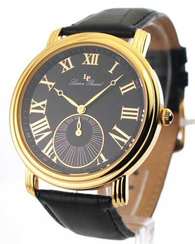 Swiss Watches:Mens Lucien Piccard Leather Gold Tone Watch 28162YL Images