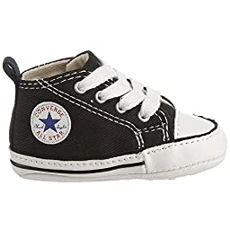 Converse Baby Boys\' Chuck Taylor First Star HI (Infant) - Black/White - 1 Infant