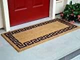 Kempf Greek Key Natural Coco Doormat, 22 by 47 by 0.5-Inch