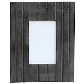 NEW YEAR GIFT - Photo Picture Frame - Handmade 4x6 Coal Black Wooden Vintage Look Frame with Stand for Horizontal & Vertical Pictures - Home Decor / Table-top / Living Room Decorative Accessories