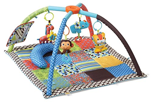 Lovely Kids Infantino Square Twist Fold Activity Gym Baby Travel Toys Animals Sit Play New