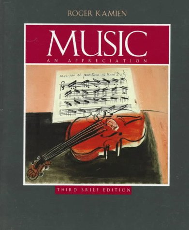 Music : An Appreciation-Student Brief (Paperback Book Only), Roger Kamien