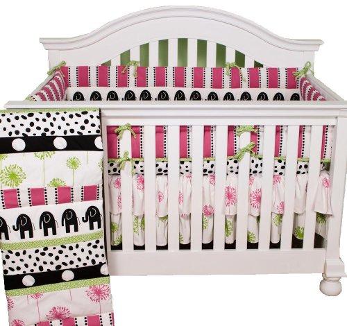 Cotton Tale Designs 4 Piece Hottsie Dottsie Crib Bedding Set