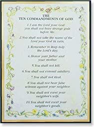 The Ten Commandments Magnetic Frame, Pack of 4
