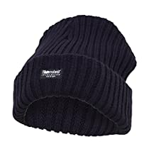 Womens/Ladies Knitted Chenille Thinsulate Thermal Winter Hat (One Size) (Navy)
