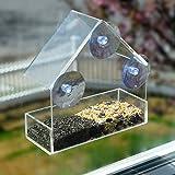 GrayBunny GB-6842 Window Bird Feeder, Clear Thick Acrylic