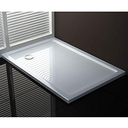 receveur de douche 75x90x4 rectangle acrylique mod ultraflat sa1312. Black Bedroom Furniture Sets. Home Design Ideas