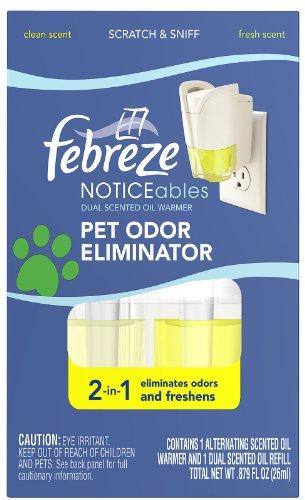 Febreze Noticeables, Pet Odor Eliminator, Dual Scented Oils, Clean and Fresh Scents 1 ea