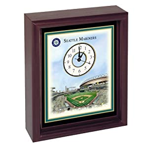 Seattle Mariners Safeco Field Stadium Colorprint Desk Clock by Unknown