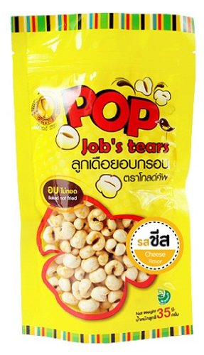 Pop Job'S Tears Cheese Flavor 35G. High Fiber. No Cholesterol. Real Healthy Snack. [Free Cereal Bar]