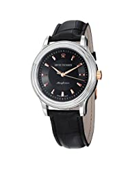 Revue Thommen Classic Men's Black Dial Black Leather Strap Automatic Watch 12200.2557