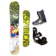 Buy 153cm Sapient Vortex-Gamer-Identity Rocker Mens Snowboard, Boots and Bindings Package or deck, U build it by Boards For Less