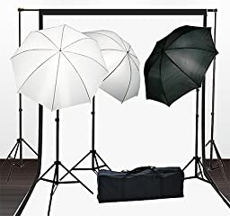 Fancierstudio Lighting Kit With Backdrop Stand Black White Muslin Backdrop And Light Kit By Fancierstuido FH4051