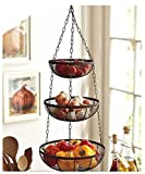Useful. 3 Tier Hanging Fruit Basket (Black)