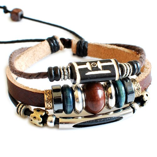 Couple Bracelet Unisex Leather Bracelet Jewelry Bangle bracelet women Leather Bracelet Girl Ropes Bracelet SL2365