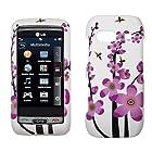 White Pink Flower Hard Case Cover for LG Vu Plus GR700
