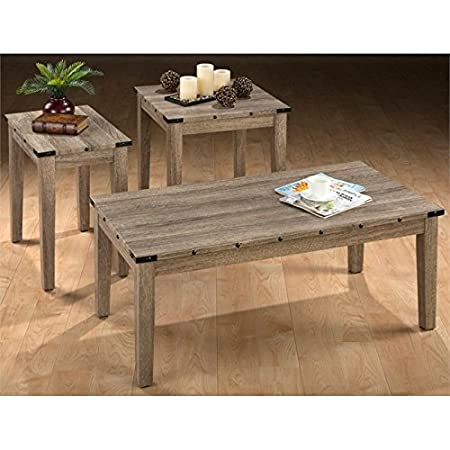 Jofran Taos 3 Piece Coffee Table Set in Oak