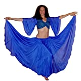 51XPSxqfjML. SL160  Bright Blue Full Circle Silk Skirt
