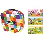 Vilac Three Elmer Puzzles in Box